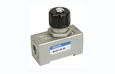"چین AS SMC Type One Way Pneumatic Flow Control Valve , 1670L/min G1/4"" Throttle Check Valve کارخانه"