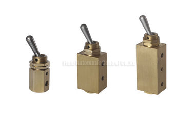 چین Miniature Two Position Five Way Manual Directional Control Brass Hand Toggle Valve کارخانه